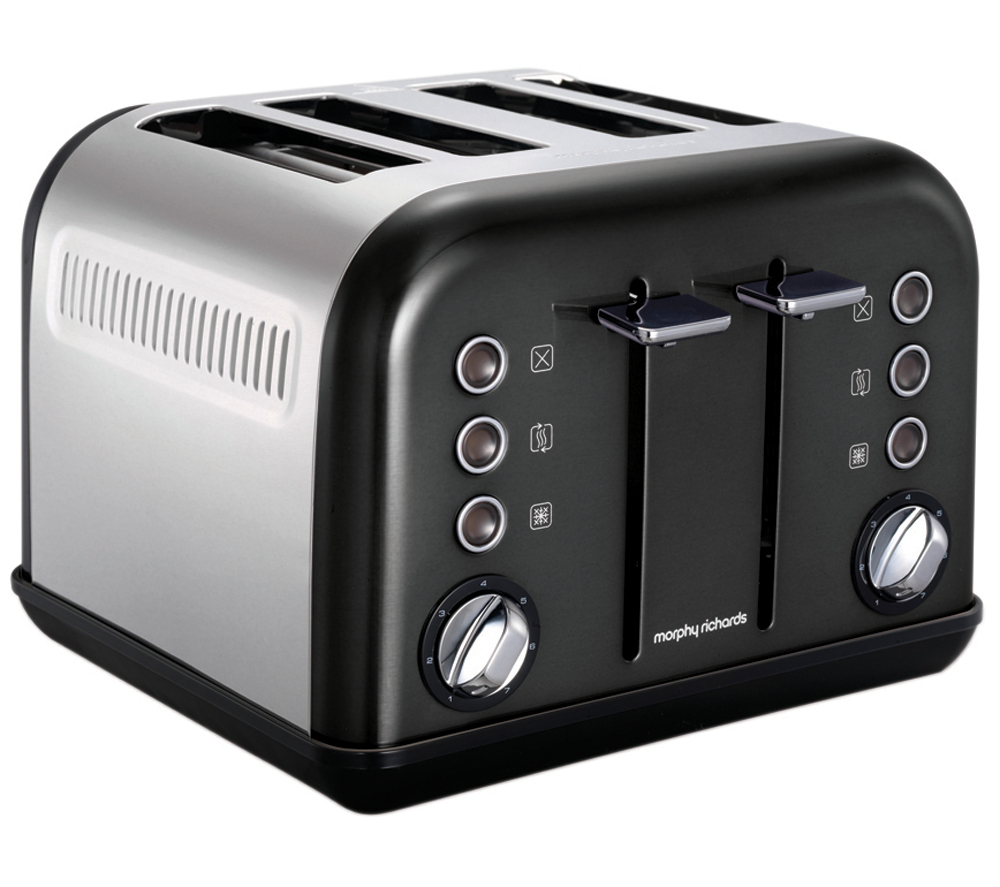 Morphy Richards Appliances: Morphy Richards Accents 242002 4-Slice Toaster – Black, White