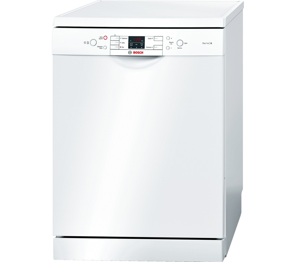 bosch serie 6 sms53m02gb full size dishwasher white. Black Bedroom Furniture Sets. Home Design Ideas