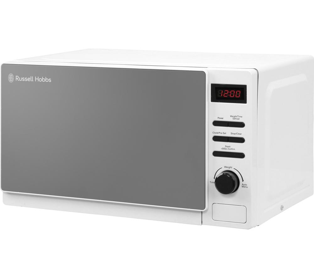 russell hobbs aura rhm2079a solo microwave white white appliance sava. Black Bedroom Furniture Sets. Home Design Ideas