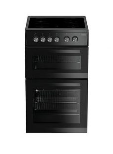 Beko Kdvc563Ak 50Cm Double Oven Electric Cooker - Black