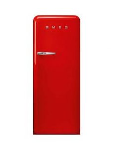 Smeg Fab28 60Cm Retro Style Left Hand Hinge Fridge With Icebox - Red - Right Handed Hinge Fridge