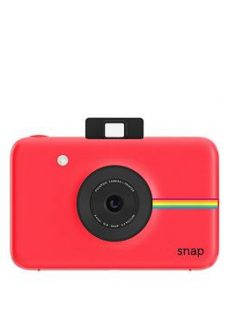 Polaroid Snap Digital Camera With 20 Pack Of Paper And Optional Case - Red - Instant Camera With 20 Pack Of Paper And Case