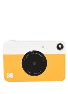 Kodak Printomatic Instant Camera With Optional 20 Pack Of Paper And Case - Yellow - Instant Camera Only