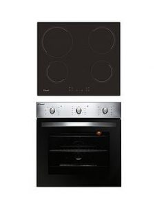 Candy Coehp60X 60Cm Electric Single Oven &Amp; Ceramic Hob Pack  - Oven And Hob Pack With Installation