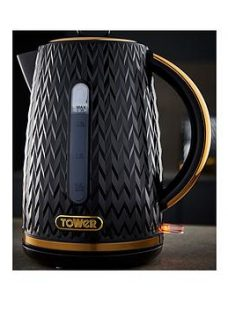 Tower Empire 1.7L Textured Kettle - Black