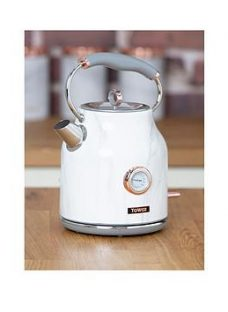 Tower 3Kw 1.7L Stainless Steel Kettle - Marble Rose Gold