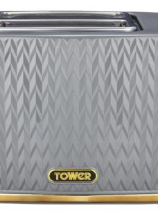TOWER Empire Collection T20054GRY 2-Slice Toaster – Grey