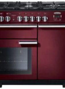 Rangemaster Professional Deluxe PDL100DFFCY/C 100cm Dual Fuel Range Cooker - Cranberry - A/A Rated
