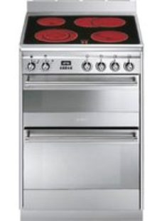 Smeg Concert SUK62CMX8 60cm Electric Cooker with Ceramic Hob - Stainless Steel - A/A Rated