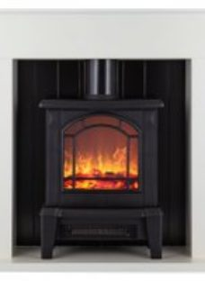 Warmlite Ealing WL45037W Log Effect Suite And Surrond - White
