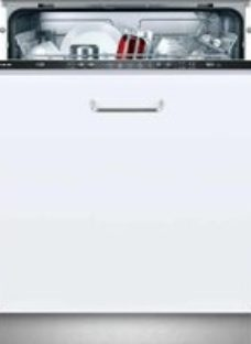 NEFF N30 S511A50X1G Fully Integrated Standard Dishwasher - Black Control Panel with Fixed Door Fixing Kit - A+ Rated