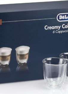 DELONGHI Creamy Collection DLKC301 Double Wall Cappuccino Glasses - Pack of 6