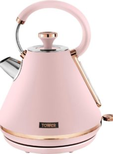 TOWER Cavaletto T10044PNK Traditional Kettle - Marshmallow Pink
