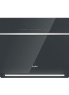 Whirlpool W Collection WHVS90FLTCK Wifi Connected 90 cm Angled Chimney Cooker Hood - Black - A++ Rated