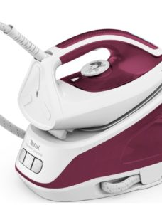 TEFAL Express Essential SV6110 Steam Generator Iron - White & Red