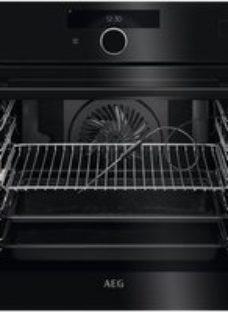 AEG BSK978330B Wifi Connected Built In Electric Single Oven with added Steam Function - Black - A++ Rated